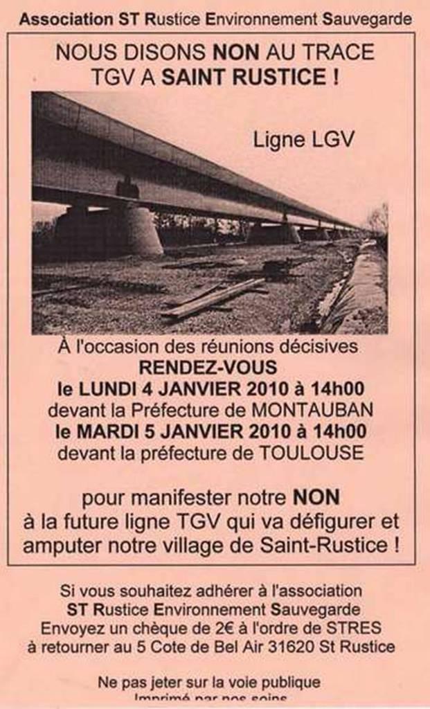 STRES: Nous disons NON au tracé TGV à Saint Rustice! dans LGV, c'est NON! tgv22saintrustice